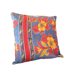 Floral Kantha Cushion Cover - Little Elephant