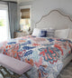 Cotton Quilt With Bold Playful Florals - Little Elephant