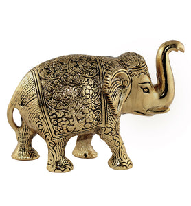 Antique Carved Brass Elephant - Little Elephant