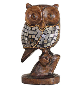 Mirrored Mosaic Perched Owl - Little Elephant