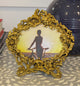 Ornate Brass Oval Picture Frame - Little Elephant