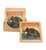 Wooden Coaster with Gemstone dust - Elephant - Little Elephant