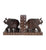 Hand Carved Elephant Bookends - Little Elephant