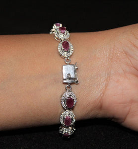 Ruby and Cubic Zirconia Bracelet - Little Elephant