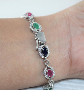 Ruby, Emerald and Sapphire w/ CZ - Little Elephant