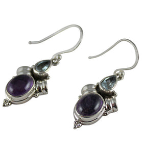 Artisan crafted Amethyst Earrings - Little Elephant