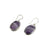 Oval Shaped Amethyst Earrings - Little Elephant