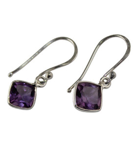 Dainty Amethyst Earrings - Little Elephant