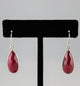 Dyed Ruby Teardrop Earrings - Little Elephant