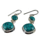 Double Dangle Turquoise Earrings - Little Elephant