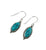 Oval Turquoise Drop Earrings - Little Elephant