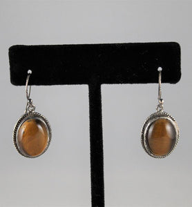 Tiger Eye Drop Earrings - Little Elephant