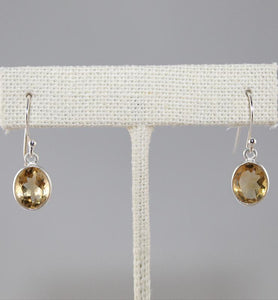 Dainty Citrine Drop Earrings - Little Elephant