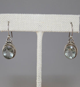 Green Amethyst Drop Earrings - Little Elephant