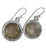 Round Rutile Drop Earrings - Little Elephant