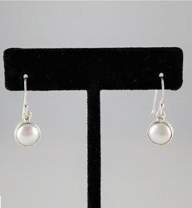 Bezel Set Pearl Drop Earrings - Little Elephant