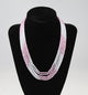Five Strand Pink and White CZ necklace - Little Elephant