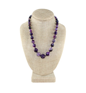 Purple Knotted Necklace - Little Elephant