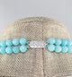 Double Strand Semi Precious Sky Blue Beaded Stones - Little Elephant