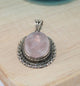 Victorian Rose Quartz Oval Pendant - Little Elephant