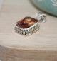 Light Orange CZ Pendant - Little Elephant