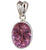 Bright Pink CZ Pendant - Little Elephant