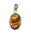 Small Tiger Eye Oval Pendant - Little Elephant