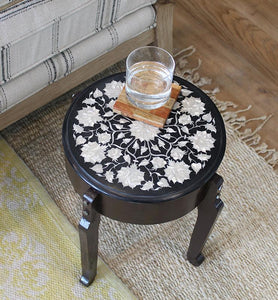 Black Marble End Table - Little Elephant