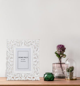 Distressed Intricate Trellis Picture Frame