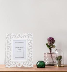 Hand-carved Negative Space Trellis Picture Frame