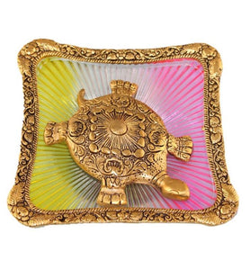 Brass Turtle on Square Plate - Little Elephant