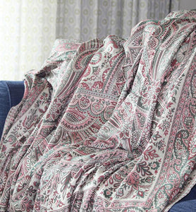 Vintage Floral Wool Throw - Little Elephant