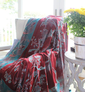 Artisan Crafted Silk Throw - Maroon - Little Elephant