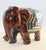 Glass Mosaic Wooden Elephant - Little Elephant