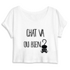 crop-top chat va ou bien ? coloris blanc