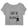 crop-top chat va ou bien ? coloris gris