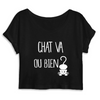 crop-top chat va ou bien ? coloris noir