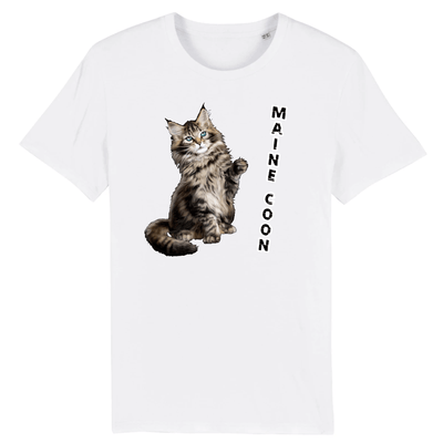 tee-shirt chat maine coon
