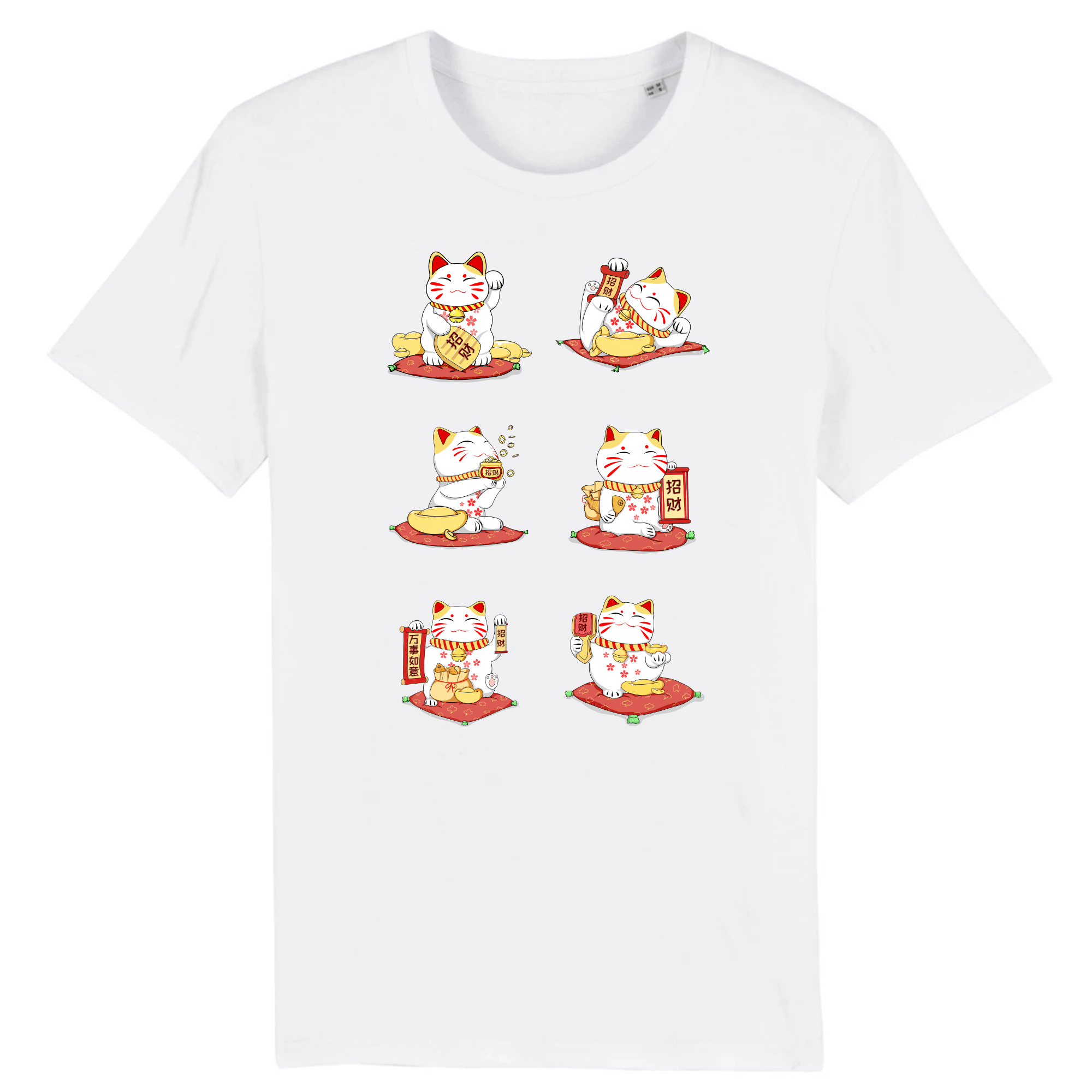 Tee-Shirt Chat Japonais Maneki Neko