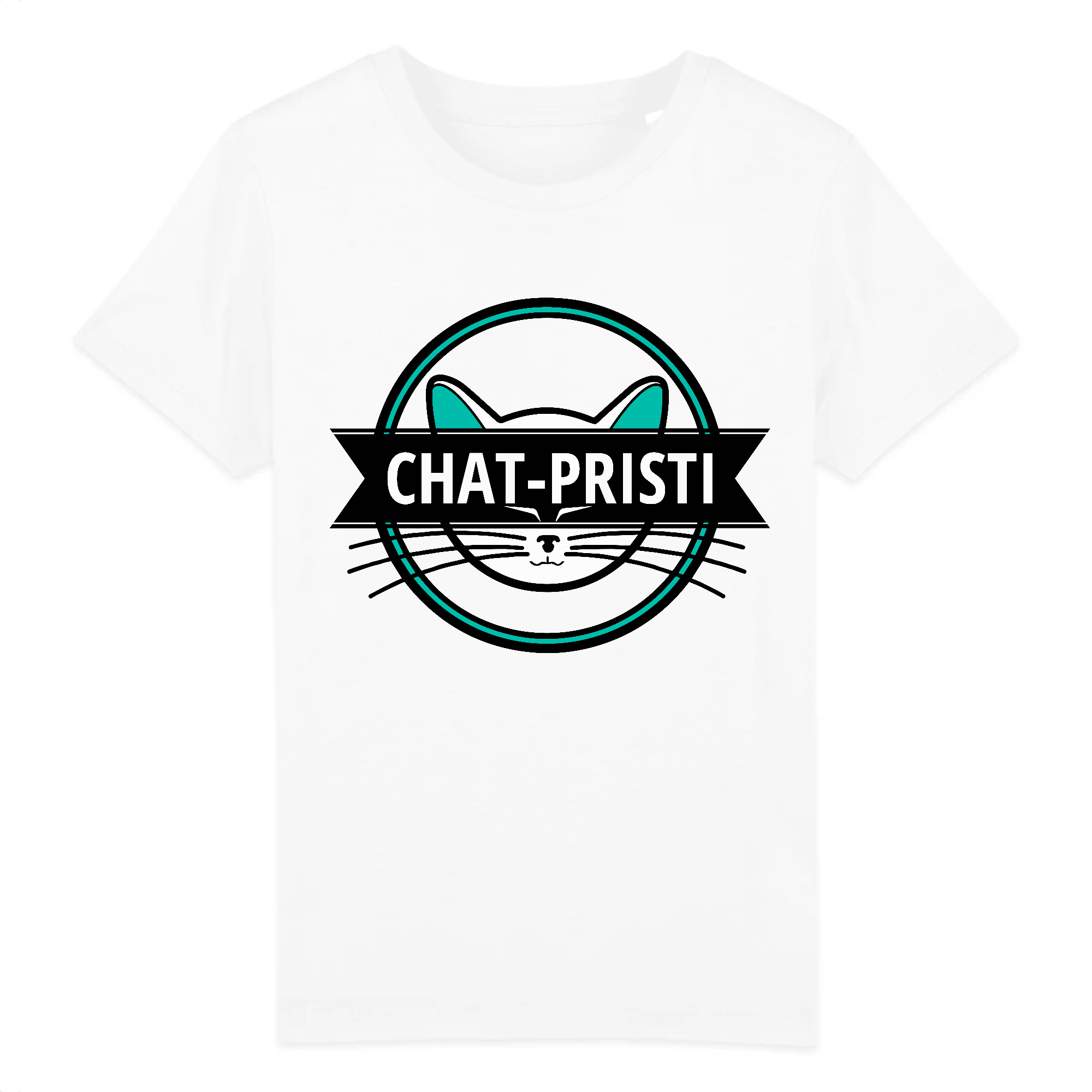 t-shirt chat pristi enfant