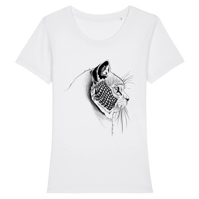 t-shirt tête de chat