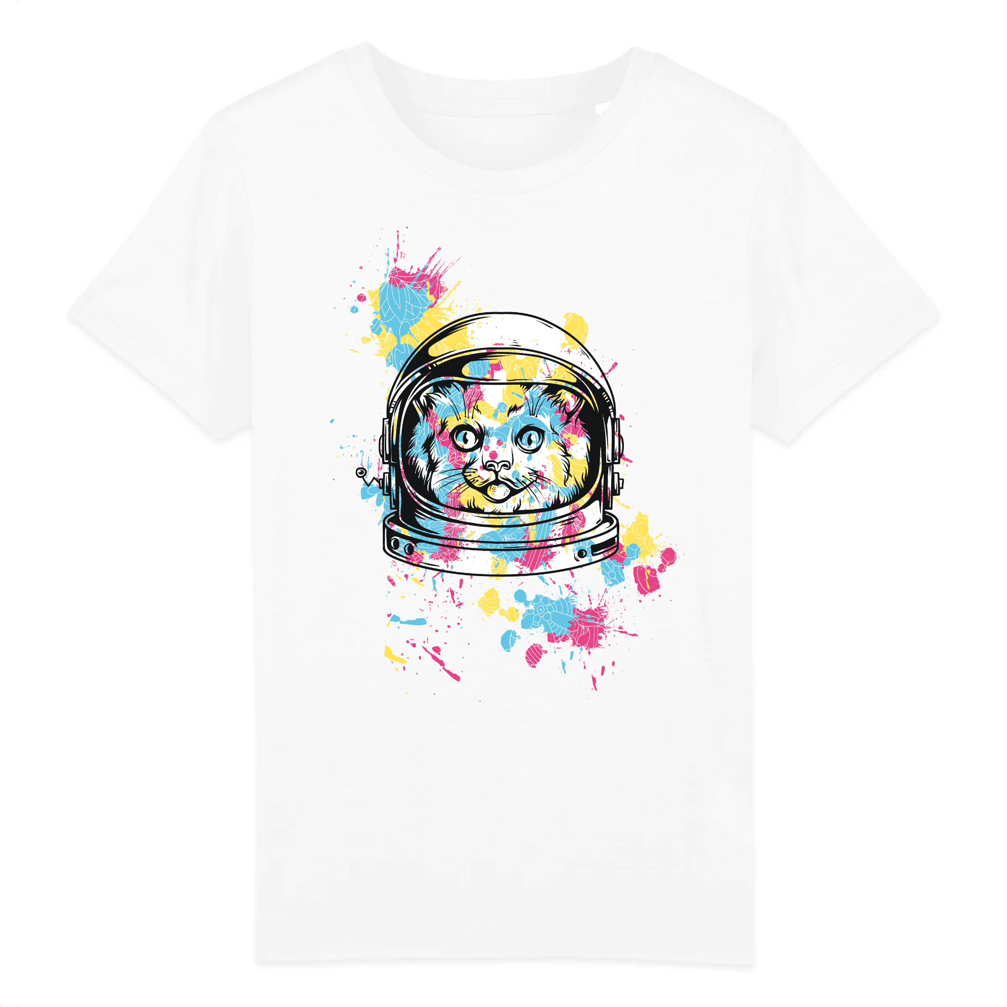 T-Shirt Space Cat Enfant
