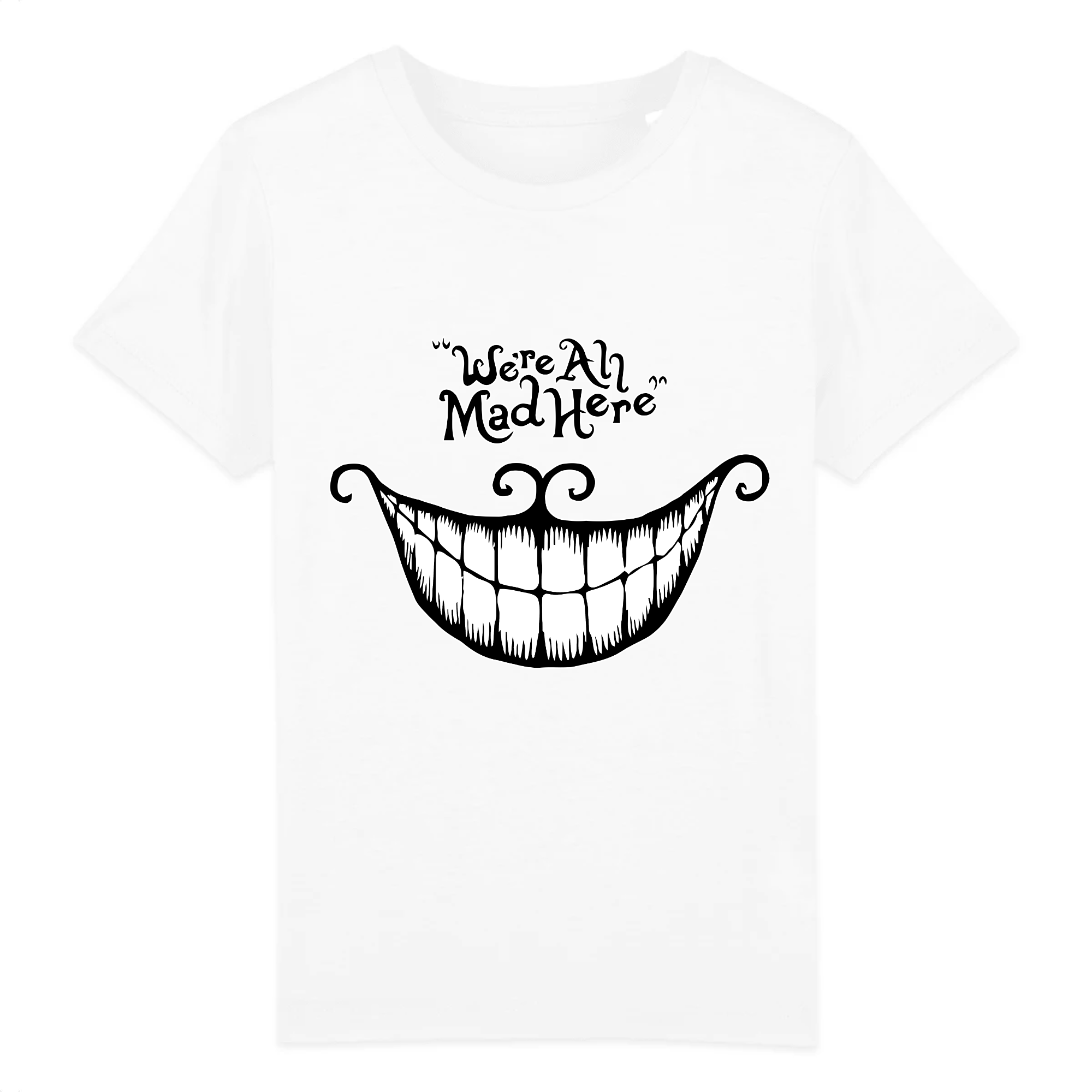t-shirt chat du cheshire enfant