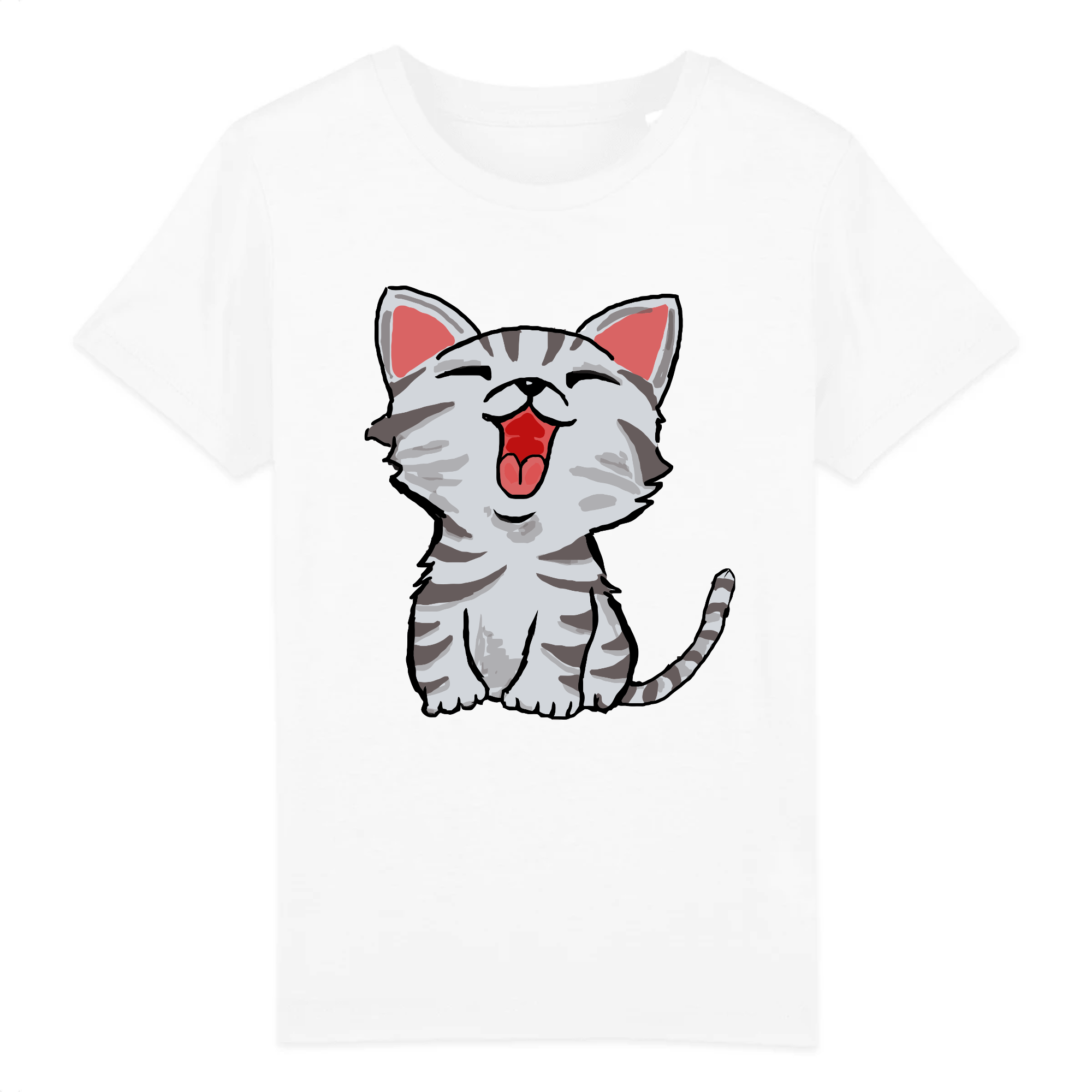 t-shirt petit chat enfant
