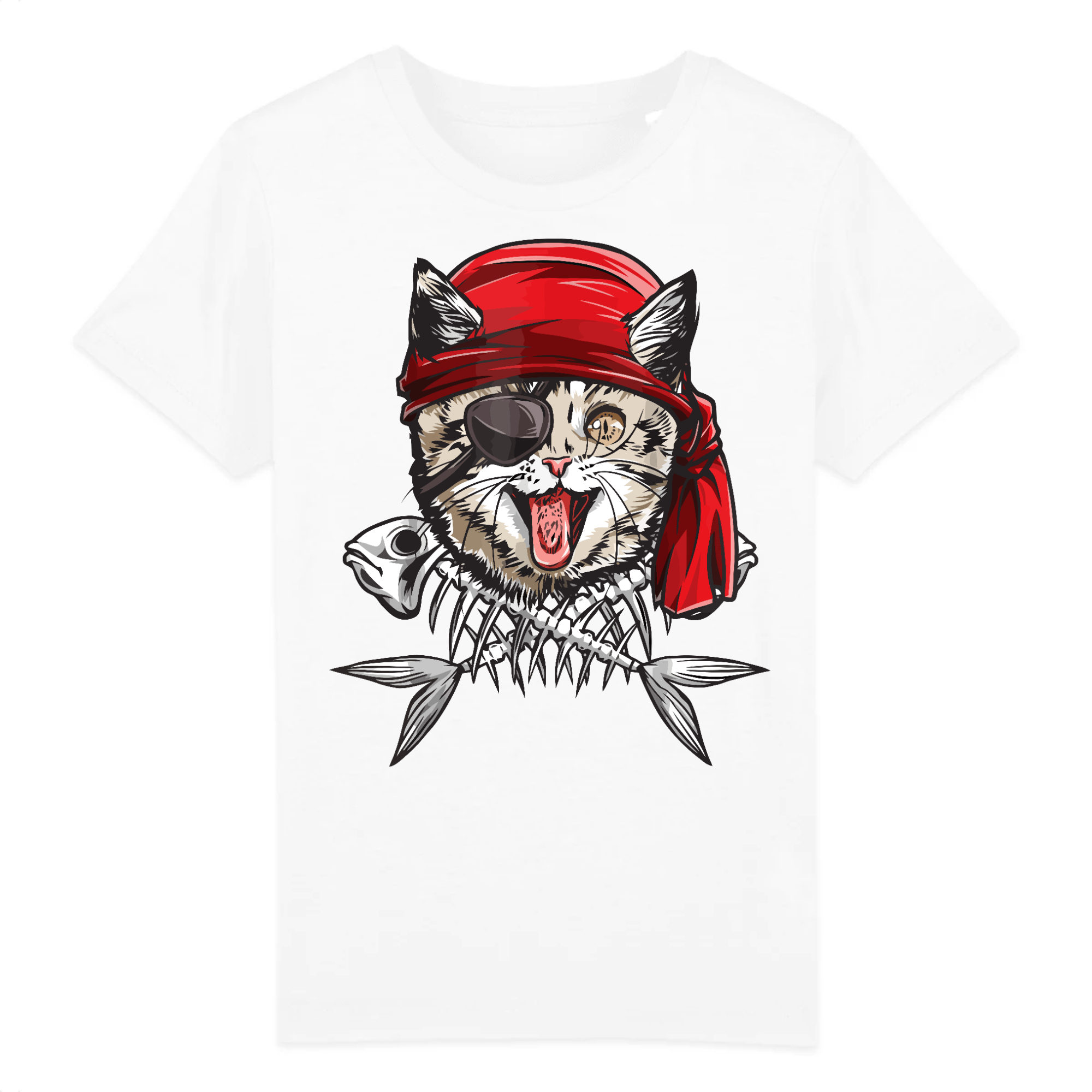t-shirt chat pirate enfant