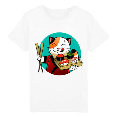 t-shirt chat sushi enfant