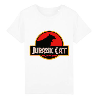 t-shirt jurassik park chat enfant