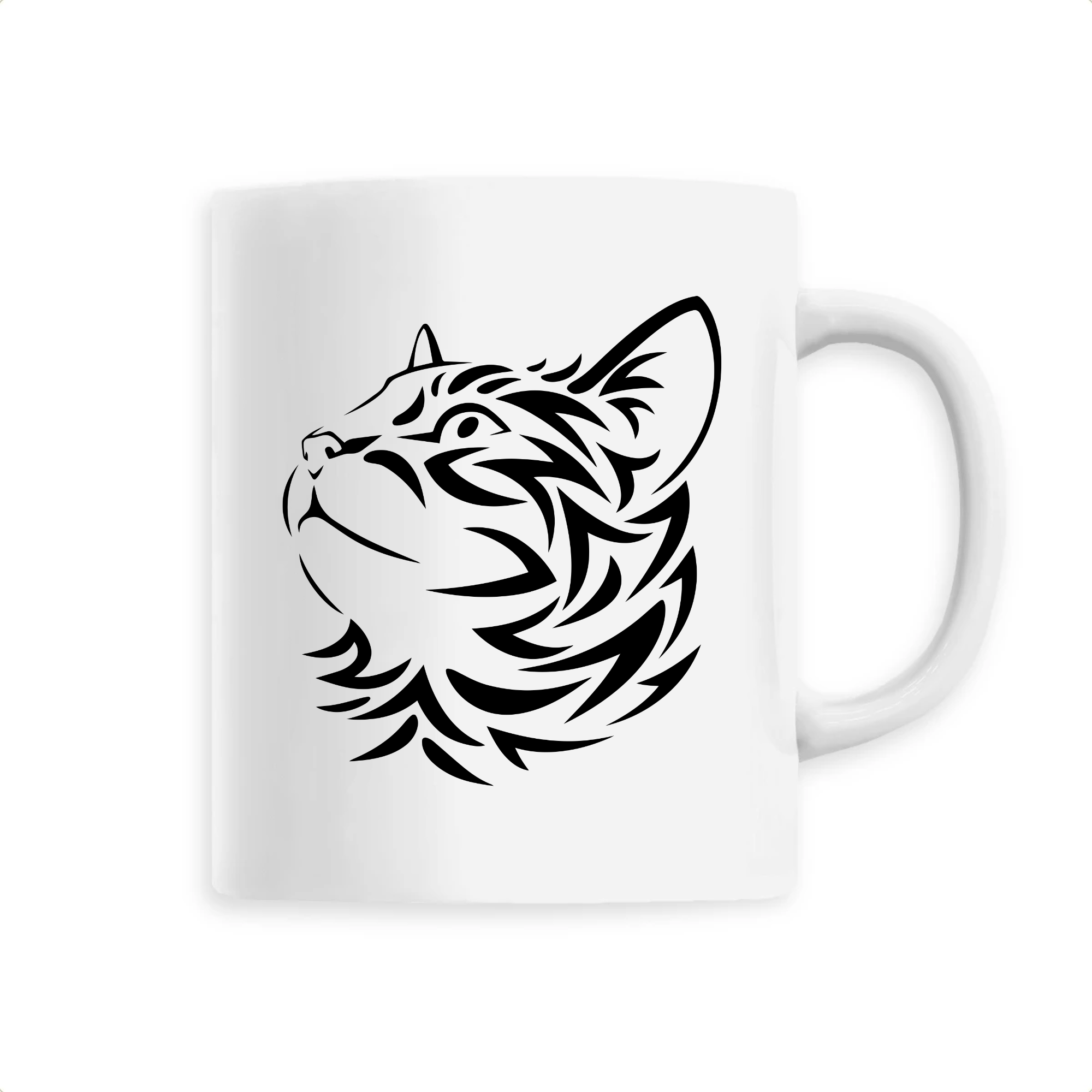 Mug Tête de Chat Tribal