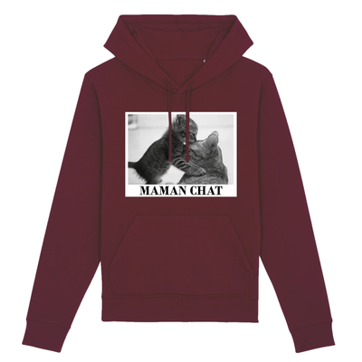 sweat maman chat couleur bordeaux
