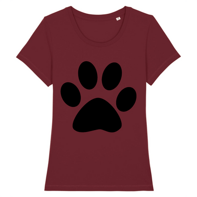 t-shirt patte de chat couleur bordeaux